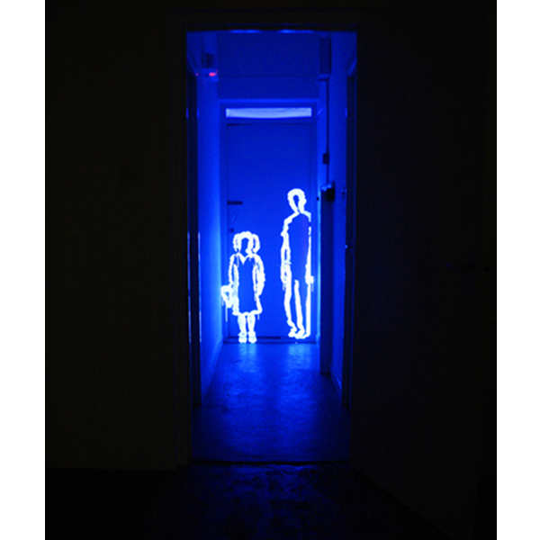 Two, Ultraviolet Light Installation, 2013